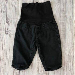 Bellavida Maternity Black Bermuda Shorts.